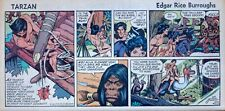 Tarzan by Burroughs & Russ Manning - lot of 5 Sunday comic pages - December 1972