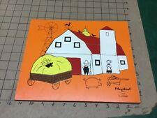 Original: PLAYSKOOK - FARM 15 pieceS -- wooden frame tray puzzle