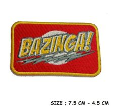 Bazinga Patches Big Bang Theory Embroidered Applique Badge Iron Sew On