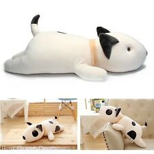 Vintoys Bull Terrier Dog Big Hugging Pillow Soft Plush Toy Stuffed Animals White