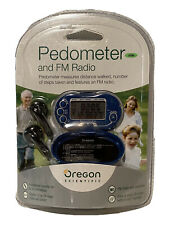 New In Package Oregon Scientific Digital Pedometer PE326 FM Radio Tuner