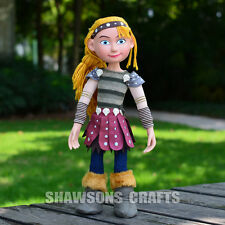 "HOW TO TRAIN YOUR DRAGON 2 TOYS 15"" ASTRIC PLUSH SOFT DOLL POSEABLE GIRL FIGURE"