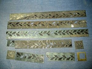 Old decorative brass strips.