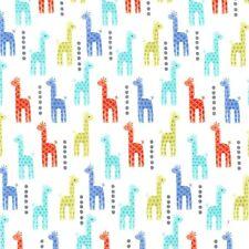 Mini Giraffes Blue for Michael Miller, 1/2 yard 100% cotton fabric