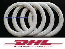 "Portawall 15"" White Wall Rubber ring insert trim 4pcs Free Ship With Dhl #194."