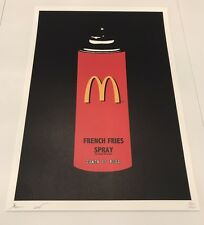 McDonalds Spray Can print by DEATH NYC Ltd Ed Obey Giant Brainwash Warhol Faile