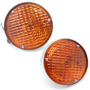 """For Jeep CJ3 CJ5 CJ6 CJ2A CJ3A CJ3B 1945 70 75 4.5"""" Orange Turn Signal Lamp"""