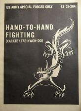 Manuel Feldjacke US Army Hand To Hand Fighting Tae Kwon Do Text in Englisch