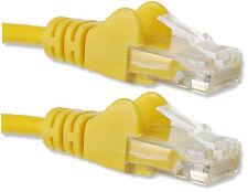50cm Amarillo Gato 5 RJ45 Cable de red LAN Ethernet de 10/100 cat5e de .5 metros plomo