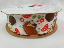 "New Vintage Berwick Offray Ribbon 7/8"" x 9' Lot Porcupine Mushroom Polyester"