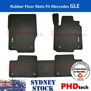 Heavy Duty Rubber Floor Mats Tailored for Mercedes Benz M GLE Class 2012-19 W166