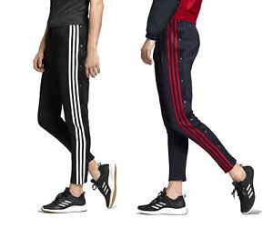 adidas Athletics Women's ID 3-Stripes Snap Poppers Joggers Track Pants XS S M L