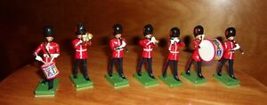 Britains Coldstream Guards 7 pc set Ceremonial Band NEW Condition metal comp.