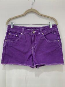 Justice Girls Jean Purple Shorts Sz 14 1/2