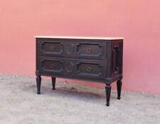 Comò cassettone mobile TV st.Luigi XVI, laccato Shabby Chic, piano legno, '900!