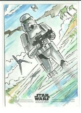 Topps Star Wars Rogue One Series 2 Stormtrooper Scarif Sketch Card - Brad Hudson