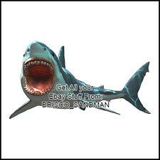 "Fridge Fun Refrigerator Magnet JAWS MOVIE ""Diecut Shark"" V: A 70s Retro"