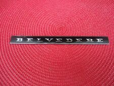 1966 1967 MOPAR PLYMOUTH BELVEDERE II Emblem Insert Single
