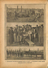 Four de Campagne Barber Camp British Army India Cavalry WWI 1914 ILLUSTRATION