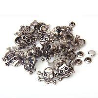 20 Sets Skull Crossbones Rivets 16 x 12mm N3