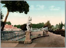 Aranjuez. Jardin de la Isla.  PZ vintage photochromie,  photochromie, vintage