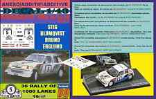 ANEXO DECAL 1/43 PEUGEOT 205 TURBO 16 E2 S.BLOMQVIST 1000 LAKES 1986 (01)