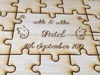 Personalised Indian Wooden Wedding Guestbook Jigsaw Puzzle Keepsake Anniversary