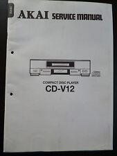 Original Service Manual  Akai Compact Disc Player CD-V12