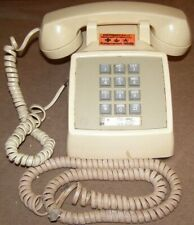 Vintage Electronic Bell System Western Electric Push Button Telephone Cream