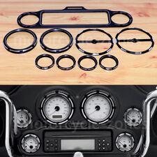 Black Stereo Accent Speedometer Speaker Trim Ring Cover for Harley Ultra Classic