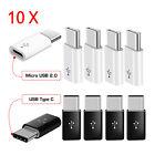 10 X Micro USB to USB 3.1 Type-C Data Adapter Converter For Samsung/LG Universal