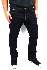 Replay Men Jeans Waitom W34/L32 M983 Dark Blue W11807007 Regular Slim Fit +New+