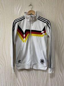 GERMANY RETRO FOOTBALL SOCCER TRACK TOP JACKET WOMEN sz 42 ADIDAS P04123