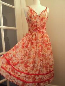 mint silk voile floral dress UTTERLY DIVINE 10 romantic