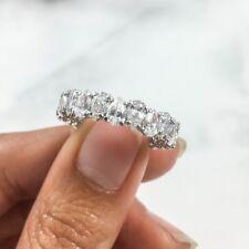 4.23 CT 18K White Gold Natural Tear Drop Pear Cut Diamond Eternity Band Ring
