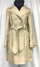 LAUNDRY Women's Fall Coat Belted Fit Beige US M