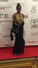 Vintage Designer GOLD Chain Link Chainmail Halter Dress Top Paco Rabanne Era S