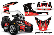 AMR Racing Can Am BRP RTS Spyder Graphic Kit Wrap Street Bike Decal TRIBAL RED