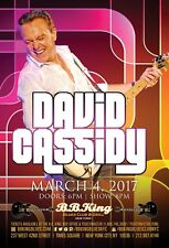 DAVID CASSIDY 2017 NEW YORK CITY CONCERT TOUR POSTER-Pop Music, Partridge Family