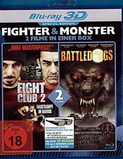 BattleDogs in 3D + Fight Club 2 in 3D ( Action-Horror BLU-RAY ) Craig Sheffer