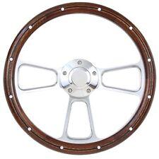1949 -1957 Ford F1, F100 Pick Up Truck Wood & Billet Steering Wheel, Boss Kit
