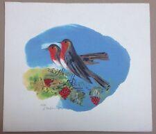 George Stathopoulos, Silkscreen, Greek Art, Original Print, Two Birds