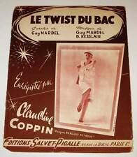 Partition vintage sheet music CLAUDINE COPPIN : Le Twist du Bac * 60's Mardel