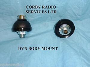 "SIRIO BODY MOUNT BASE HEAVY DUTY 3/8"" DVN (NEW) ANTENNA THREAD FOR CB RADIO"