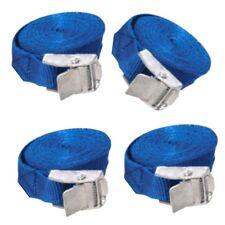 4 X Azul Cam Hebilla De Amarre De Carga Lash Correas 2,5 M X 25 Mm / resistente al clima