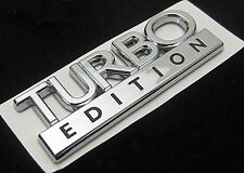 BRAND NEW TURBO EDITION BADGE CHROME DECAL SAAB VAUXHALL FORD VW AUDI ETC