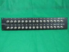 Canare 322U-BJRU 75 Ohm 32 Port Audio/ Vidio Bulkhead Patch Panel.
