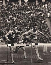 1936 Vintage Germany OLYMPICS Track Hurdles Yugoslavia Sweden Photo Art By WOLFF