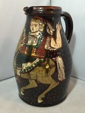 LOVELY VINTAGE SCHNEIDER steffisburg Pottery BROCCA SWISS Folk Art STILE MEDIEVALE