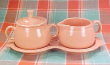 Fiesta Apricot Figure 8 Tray Cream & Sugar Set, Retired Color New